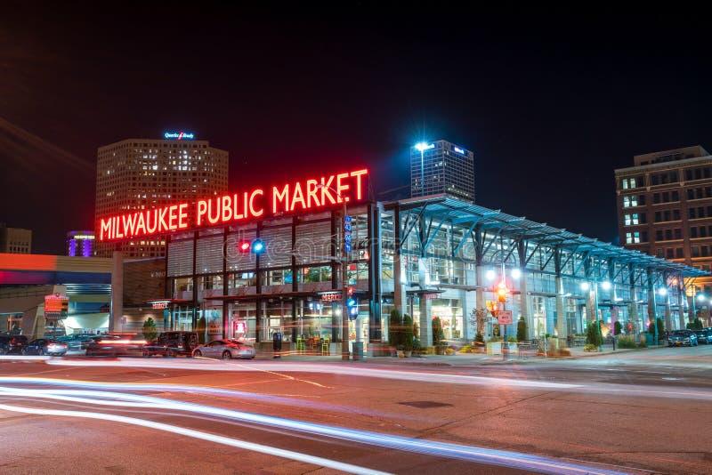 Allgemeiner Markt im historischen dritten Bezirkabschnitt von Milwaukee lizenzfreie stockbilder