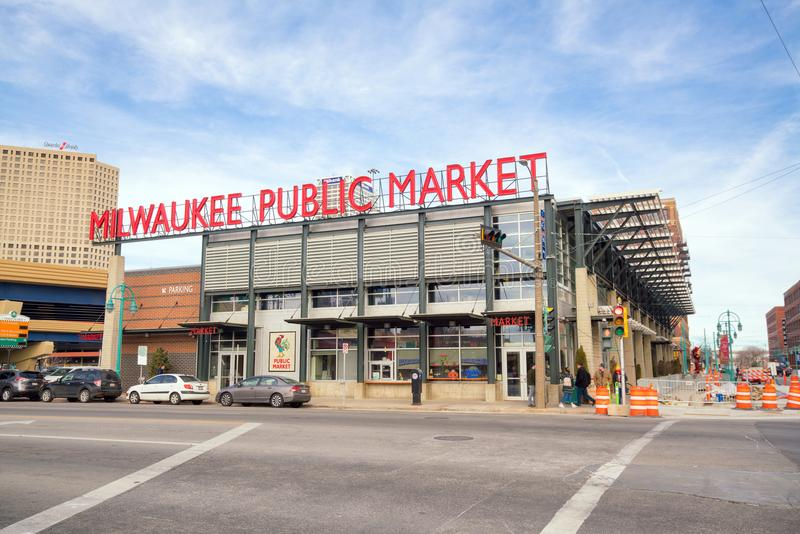 Allgemeiner Markt Milwaukee in USA lizenzfreie stockfotografie