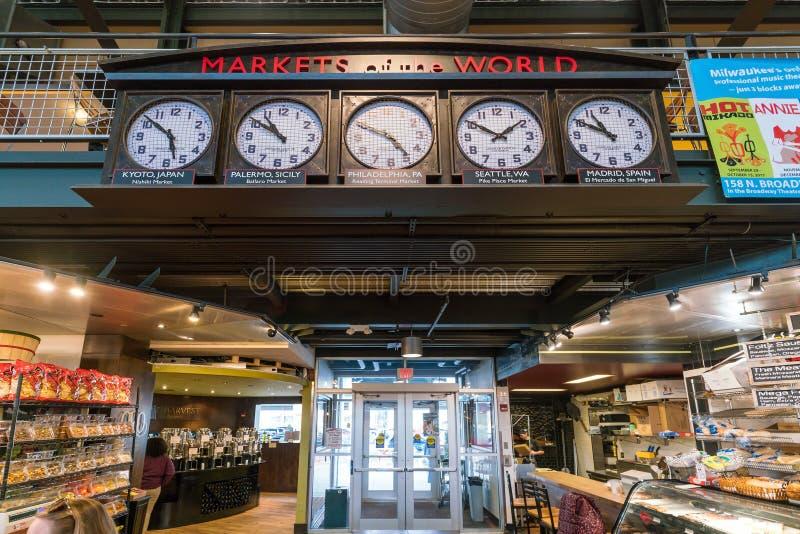 Allgemeiner Markt Milwaukee in USA stockbilder