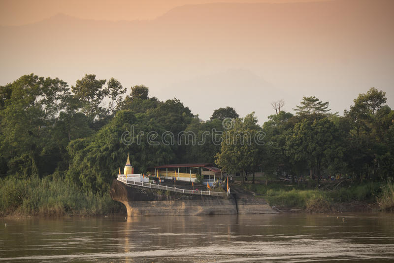 Allgemeiner Tempel der Pagode in Laos stockfotos