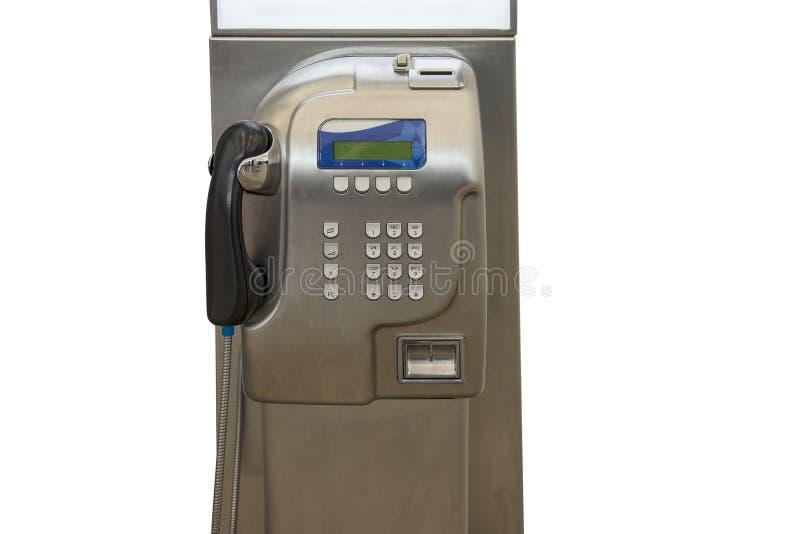 Allgemeines Telefon des Lohns auf einem weißen Hintergrund stockfotografie