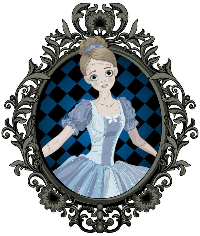 Allhelgonaafton Cinderella royaltyfri illustrationer