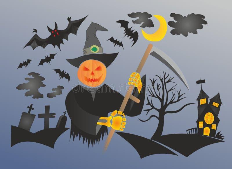 ALLHELGONAAFTONfestmåltid av skräck vektor illustrationer