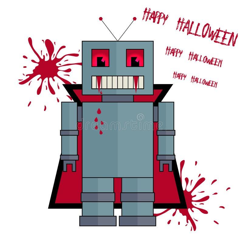 Download Allhelgonaaftonrobot Som Stiliseras Som Vampyr Vektor Illustrationer - Illustration av karneval, ondska: 78726420