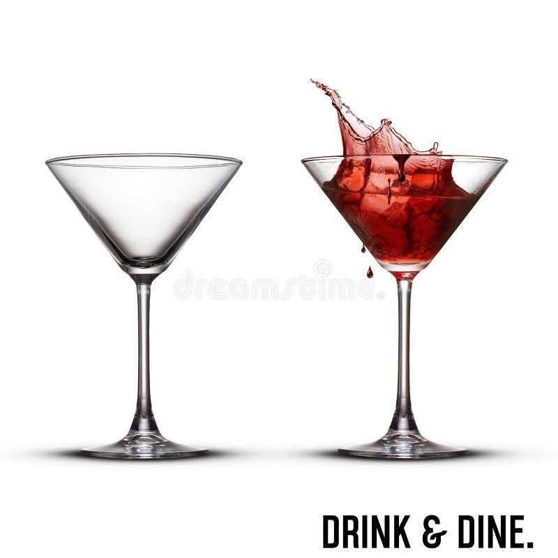 Allhelgonaaftonvampyr martini stock illustrationer