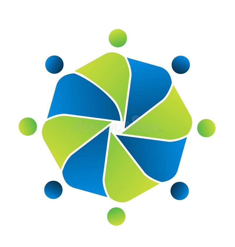 Alliance d'unité de personnes de travail d'équipe Symbole de logo de vecteur illustration stock