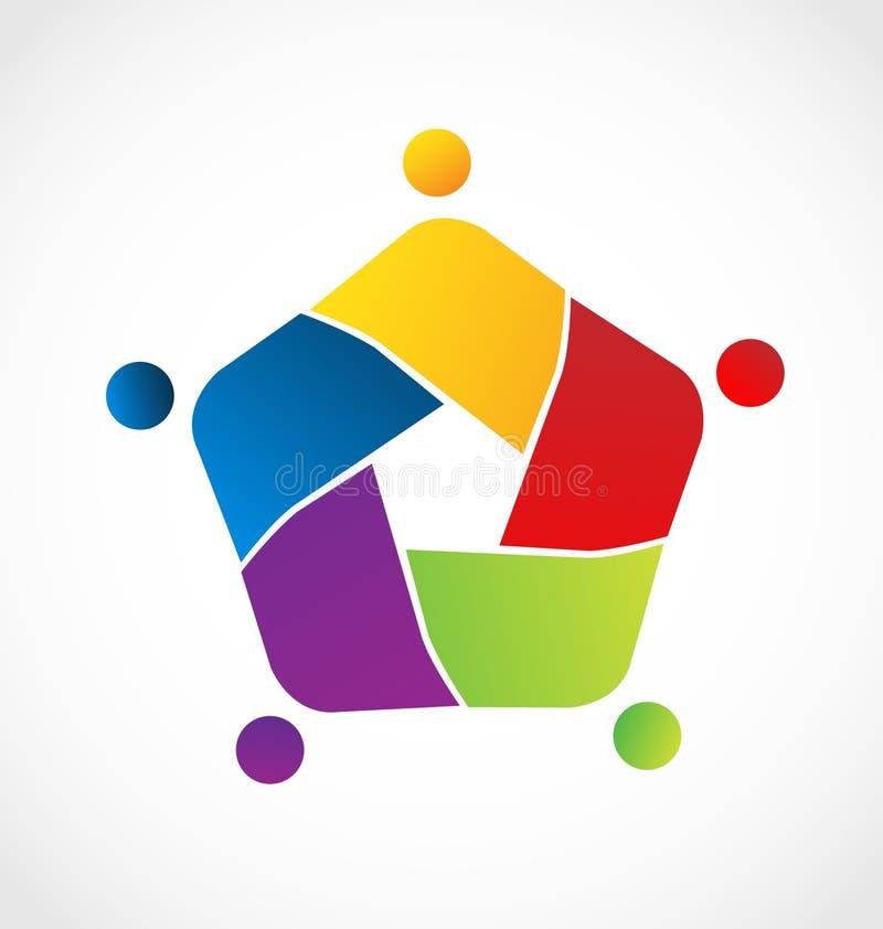 Alliance d'unité de personnes de travail d'équipe Symbole de logo de vecteur illustration libre de droits