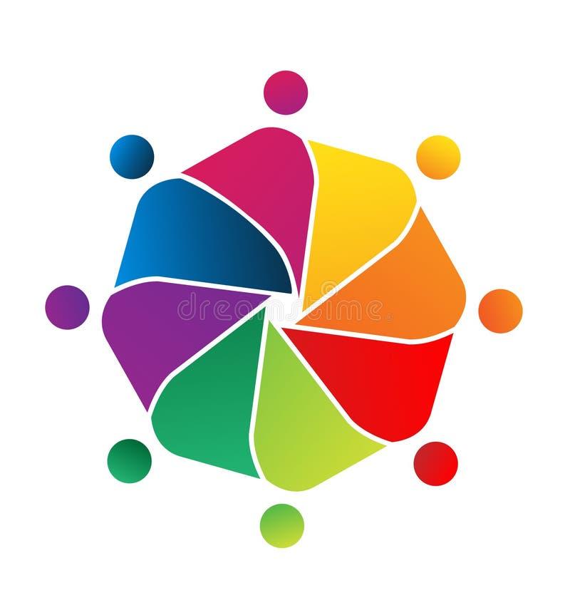 Alliance d'unité de personnes de travail d'équipe Symbole de logo de vecteur illustration de vecteur