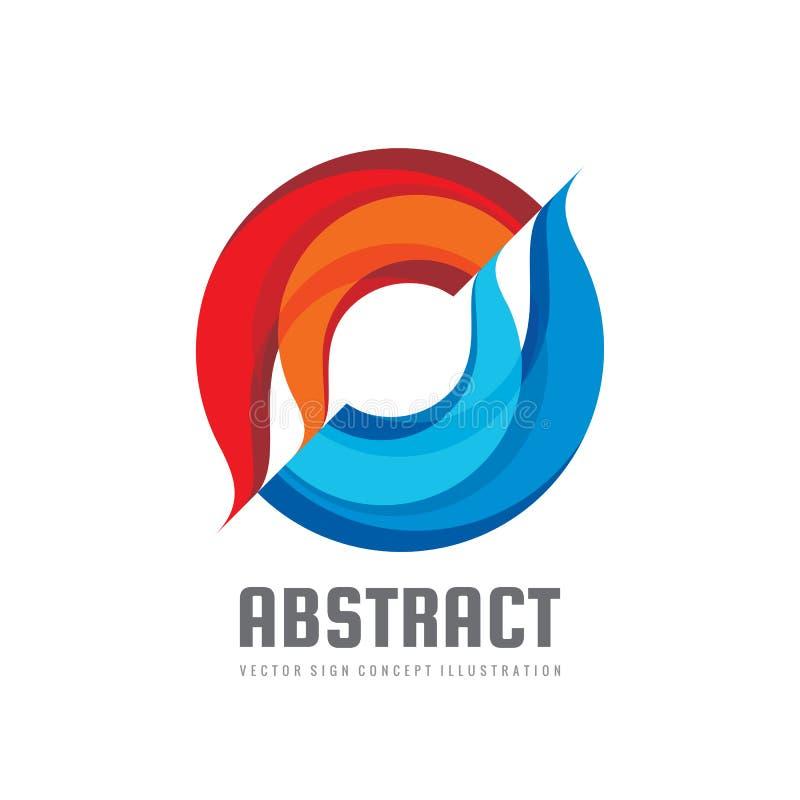 Alliance - illustration de concept de calibre de logo de vecteur Formes abstraites colorées Signe géométrique Deux éléments de co illustration de vecteur