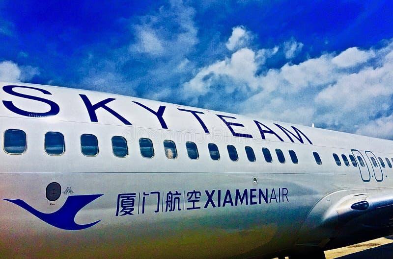 Alliance Xiamen Airlines de Skyteam images stock