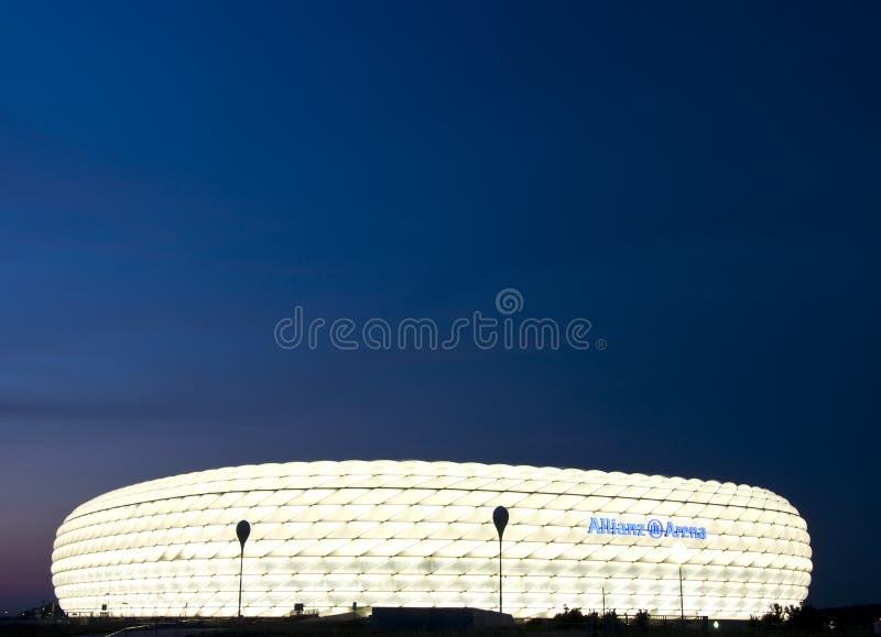 allianz竞技场晚上 免版税库存照片