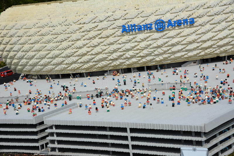 Allianz Arena Is A Football Stadium In Munichmade From Plastic Lego ...