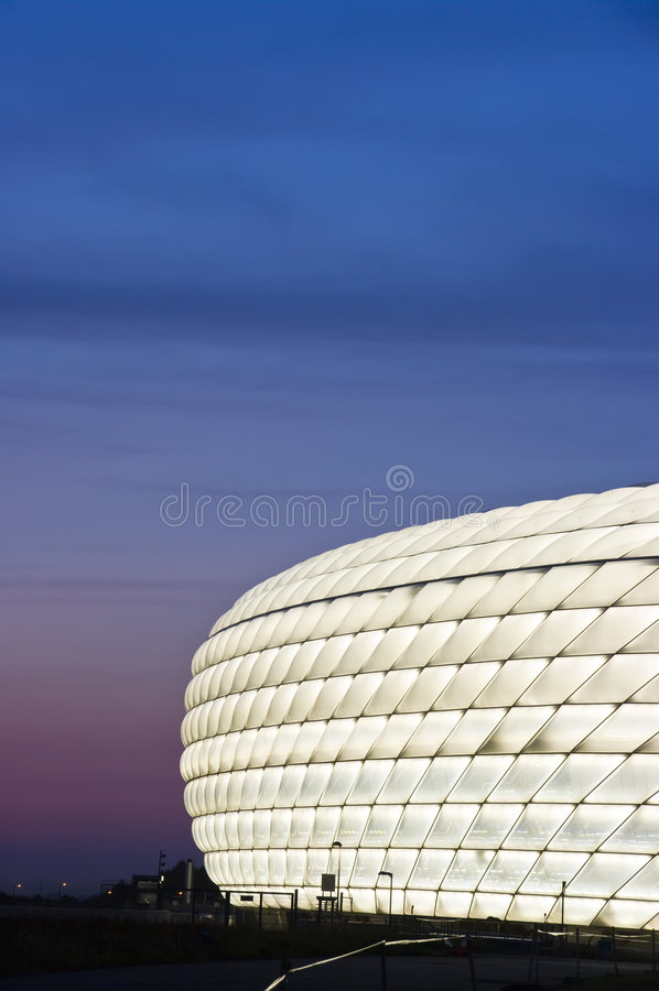 Free Allianz Arena Lit In White Royalty Free Stock Photography - 6015867