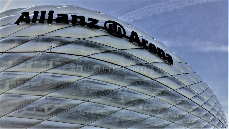 Allianz Arena Stadium in Muenchen Germany. Bayern Muenchen stadium named Allianz Arena which located in Munich Germany royalty free stock image
