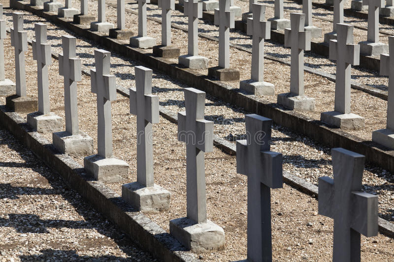 Allied cemeteries stock photography