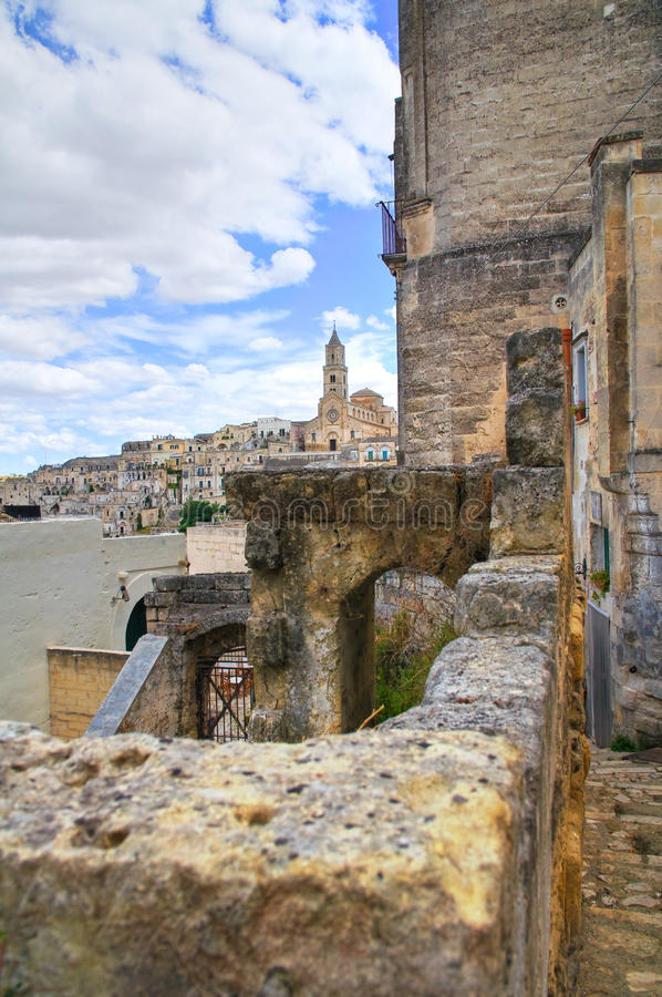 allier Sassi Matera Базиликата Италия стоковая фотография rf
