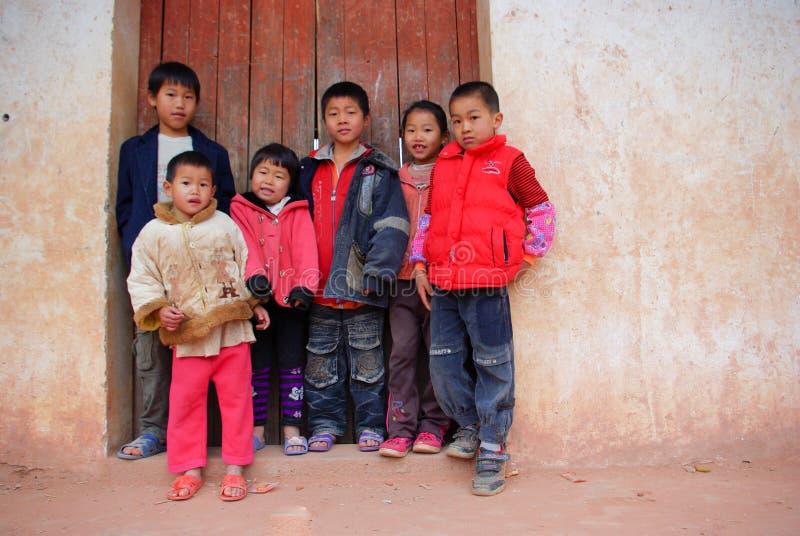 Allievi cinesi del banco primario fotografia stock libera da diritti