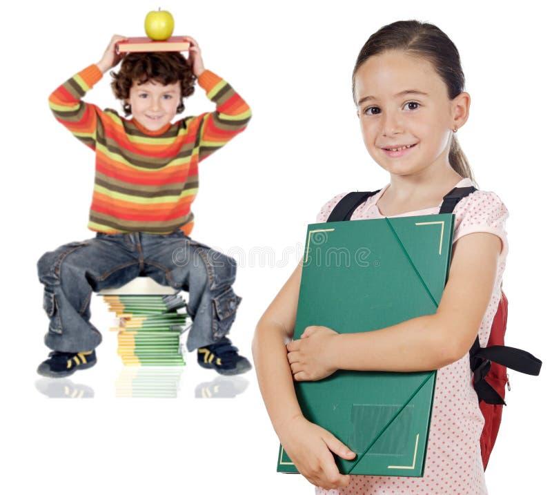 Download Allievi dei bambini fotografia stock. Immagine di coppie - 3143902