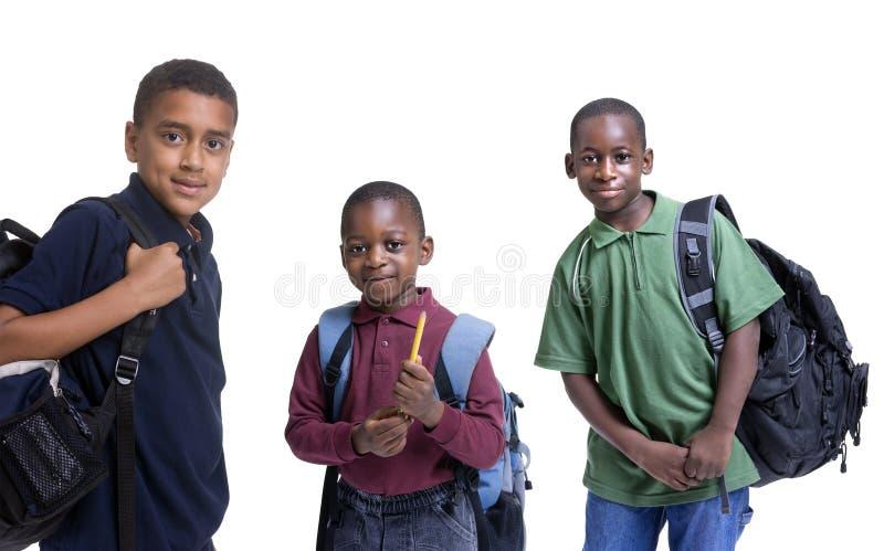 Allievi dell'afroamericano immagini stock libere da diritti