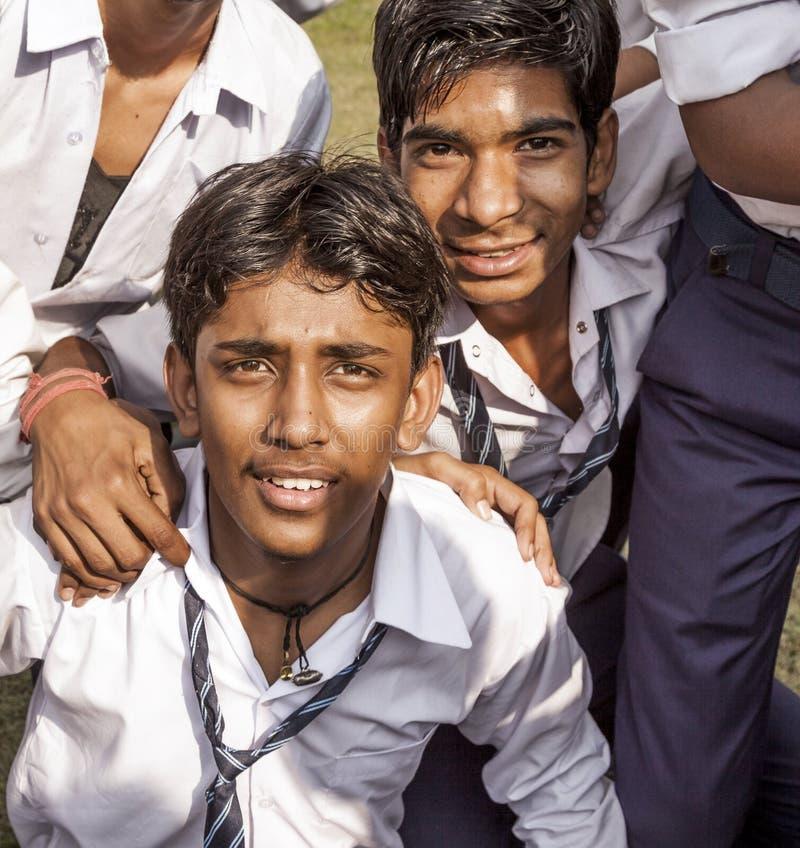 Allievi indiani sull'uscita della classe A fotografia stock libera da diritti