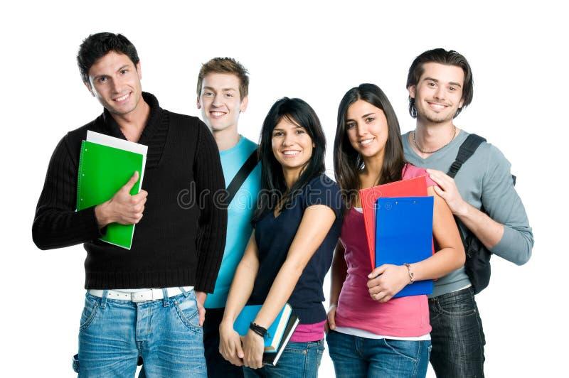 Allievi sorridenti dell'adolescente fotografie stock libere da diritti