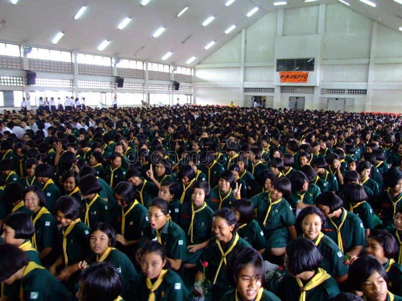 Allievi, Tailandia. immagine stock libera da diritti