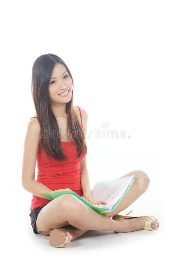 Allievo asiatico immagini stock