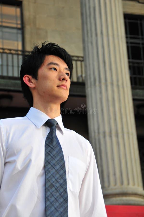 Allievo asiatico laureato 4 fotografia stock libera da diritti