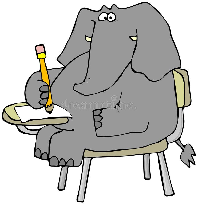 Allievo dell'elefante royalty illustrazione gratis