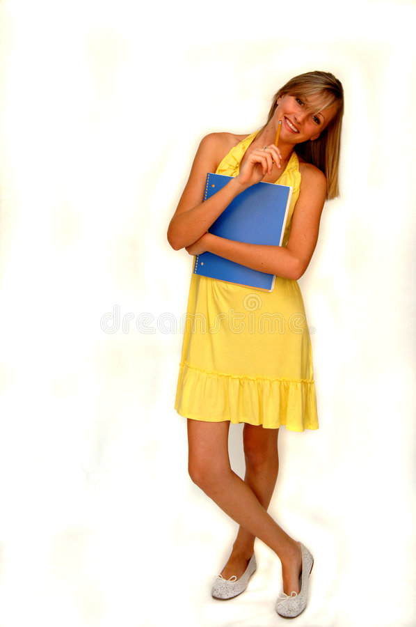 Allievo femminile felice fotografie stock