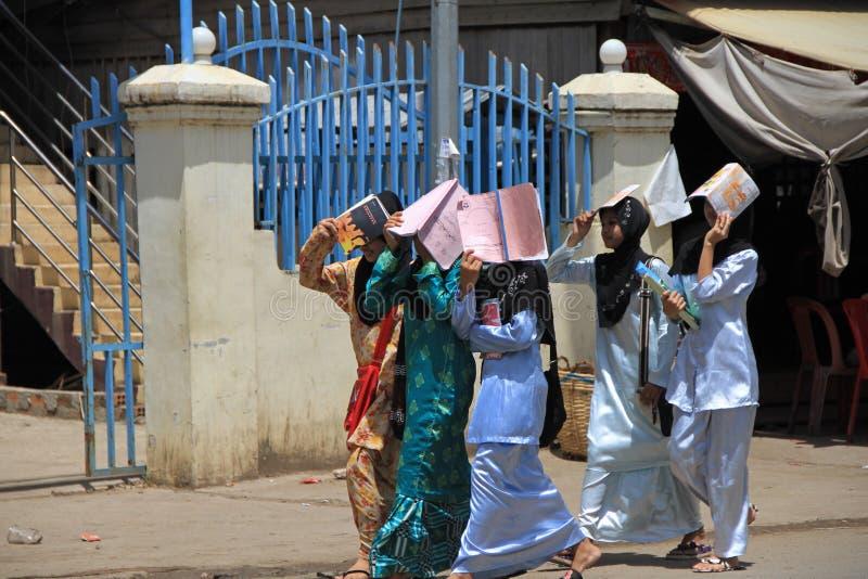 Allievo islamico a Phnom Penh fotografia stock libera da diritti