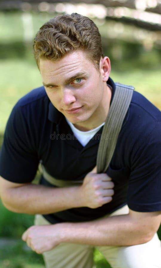 Allievo maschio fotografie stock libere da diritti