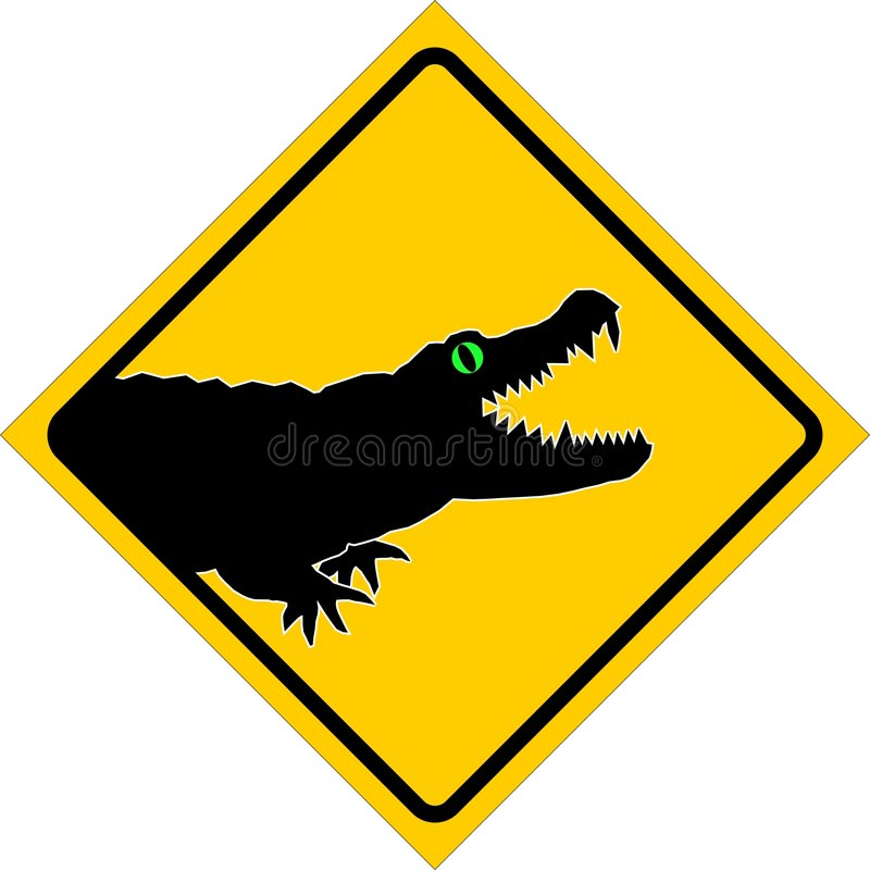 Download Alligator stock illustration. Image of symbol, dangerous - 6138005