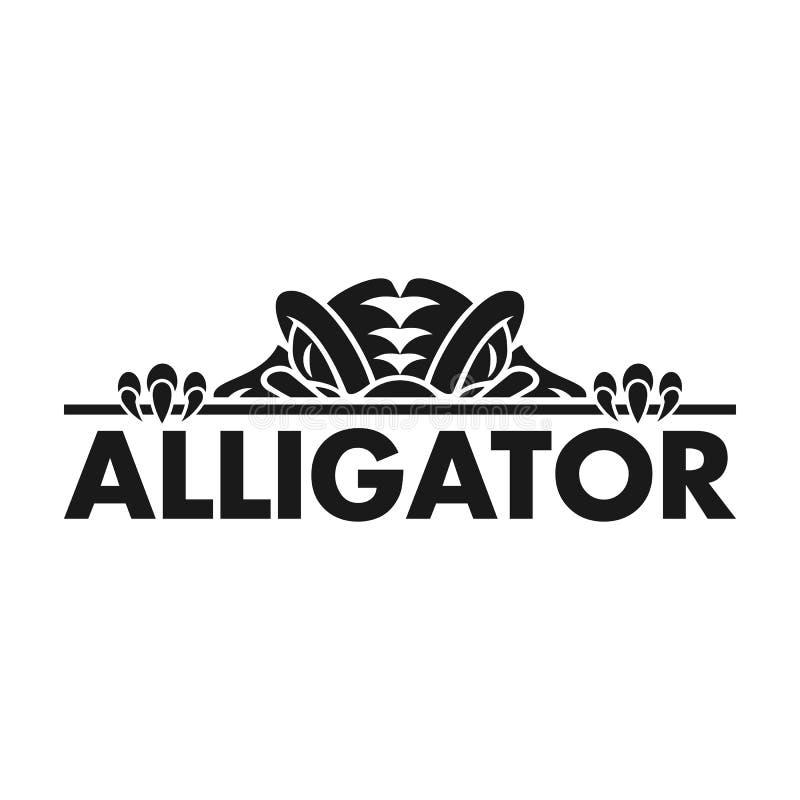 Alligator Silhouette Vector Logo Design Inspiration. Alligator Animal Silhouette Vector Logo Design Inspiration royalty free illustration