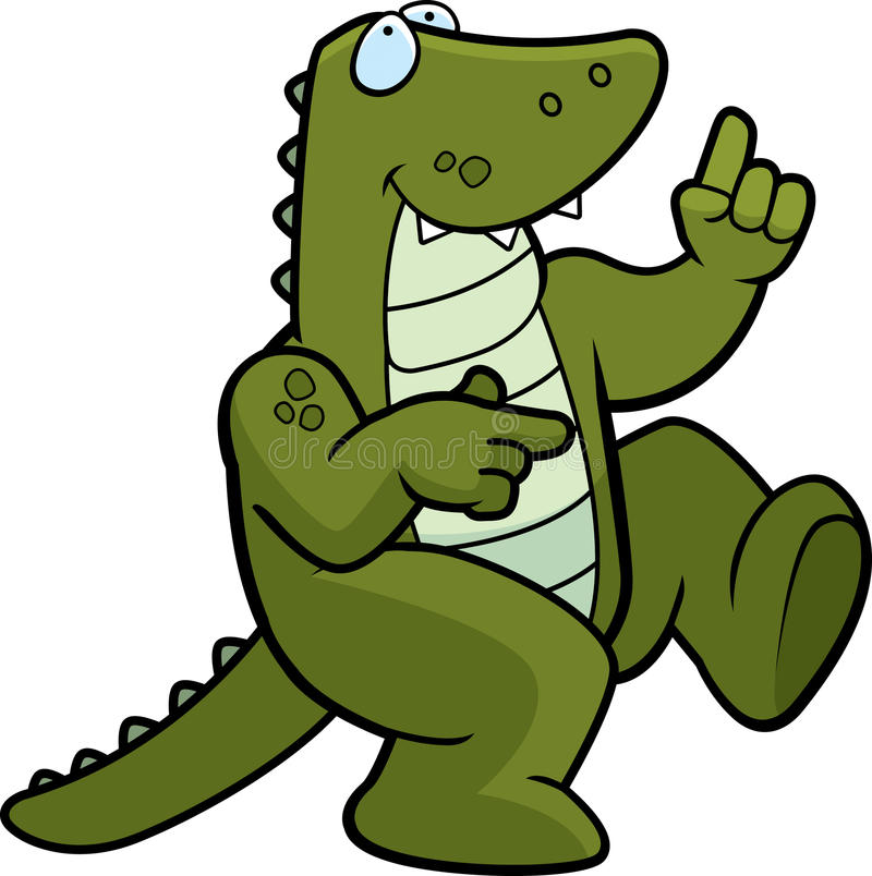 Alligator Dancing Royalty Free Stock Photo