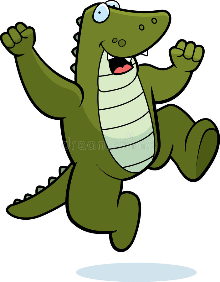 Alligator Jumping