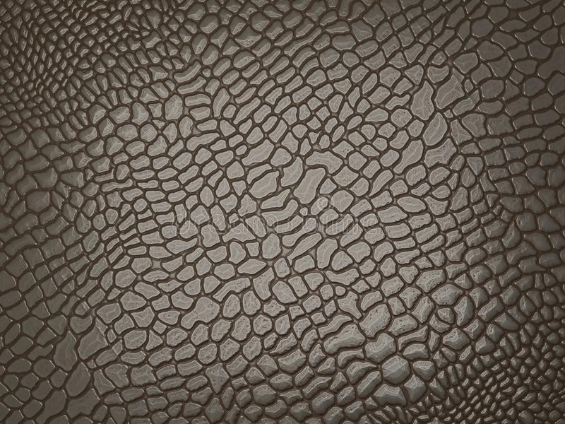 Alligator skin: useful as texture or background royalty free illustration