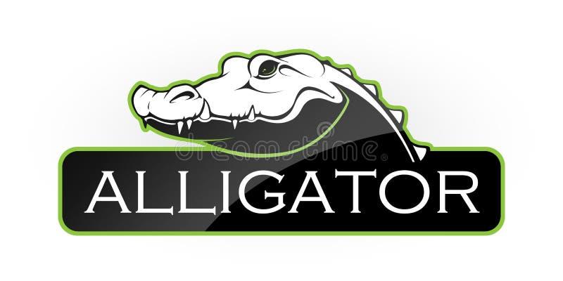 Eblema of an alligator royalty free illustration