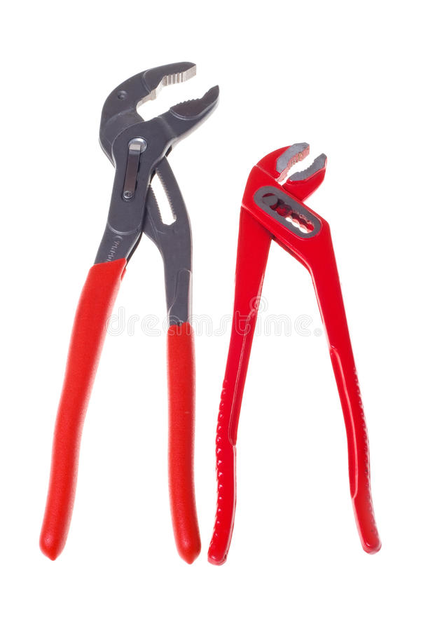 Free Alligator Wrenches (isolated). Royalty Free Stock Images - 18502619