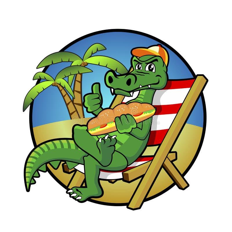 Alligatorbildvektor vektor illustrationer