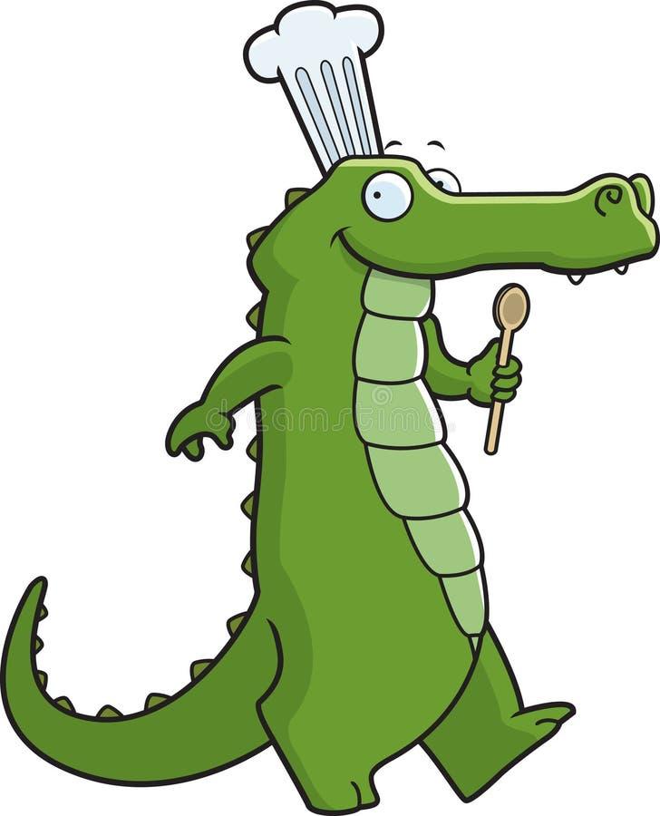 alligatorkock royaltyfri illustrationer