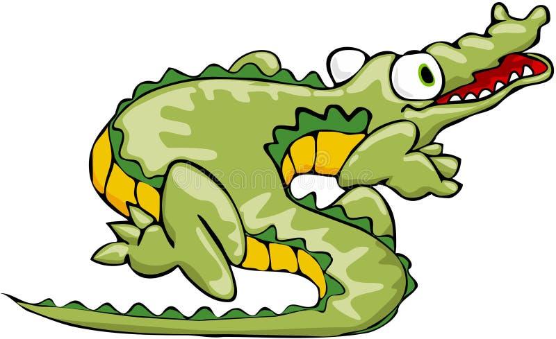 alligatorkrokodil royaltyfri illustrationer