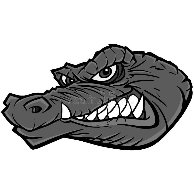 Alligatormaskotillustration royaltyfri illustrationer