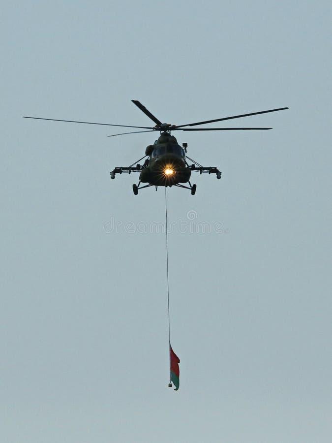 Alligatorn Ka-52 är en allväders- attackhelikopter arkivbilder