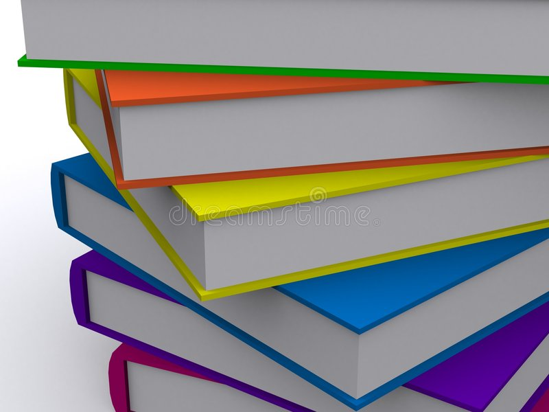 Download Allineamento dei libri 3d illustrazione di stock. Illustrazione di università - 3880251