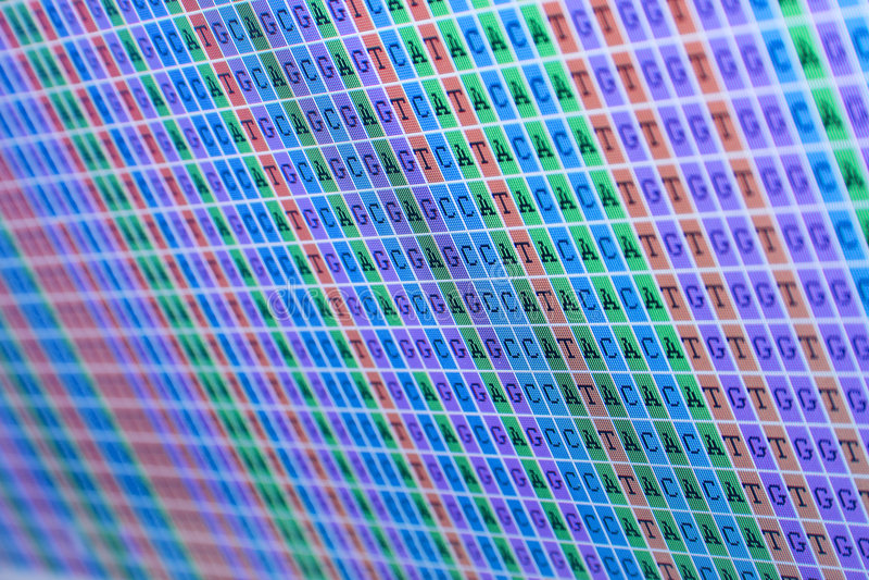 Allineamento di basi del DNA immagine stock