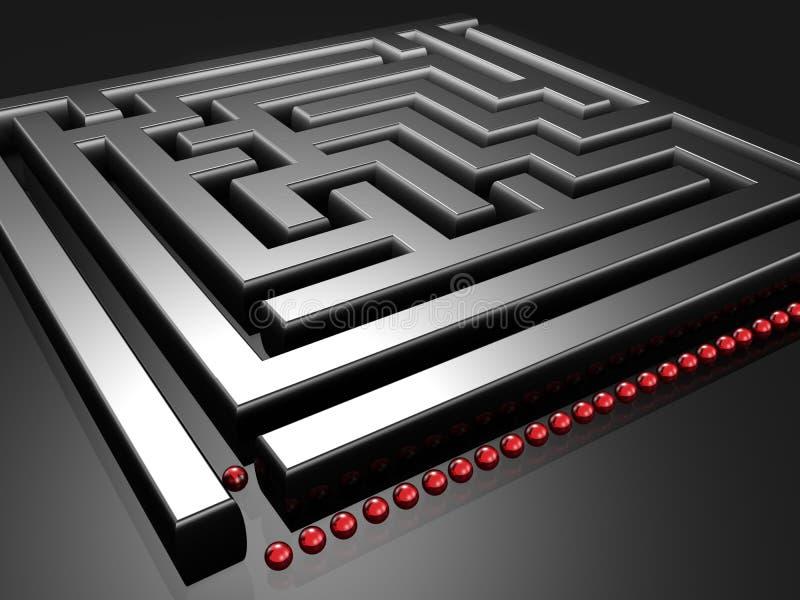 Allineamento per sfidare il labirinto royalty illustrazione gratis