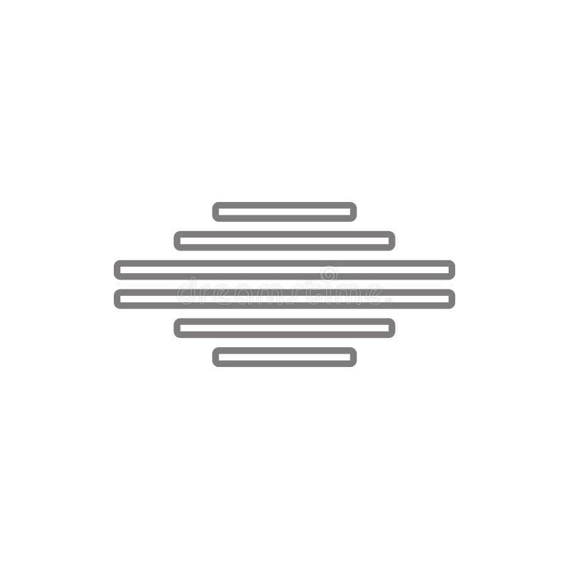 allini l'icona concentrare del testo Elemento di sicurezza cyber per il concetto e l'icona mobili dei apps di web Linea sottile i royalty illustrazione gratis