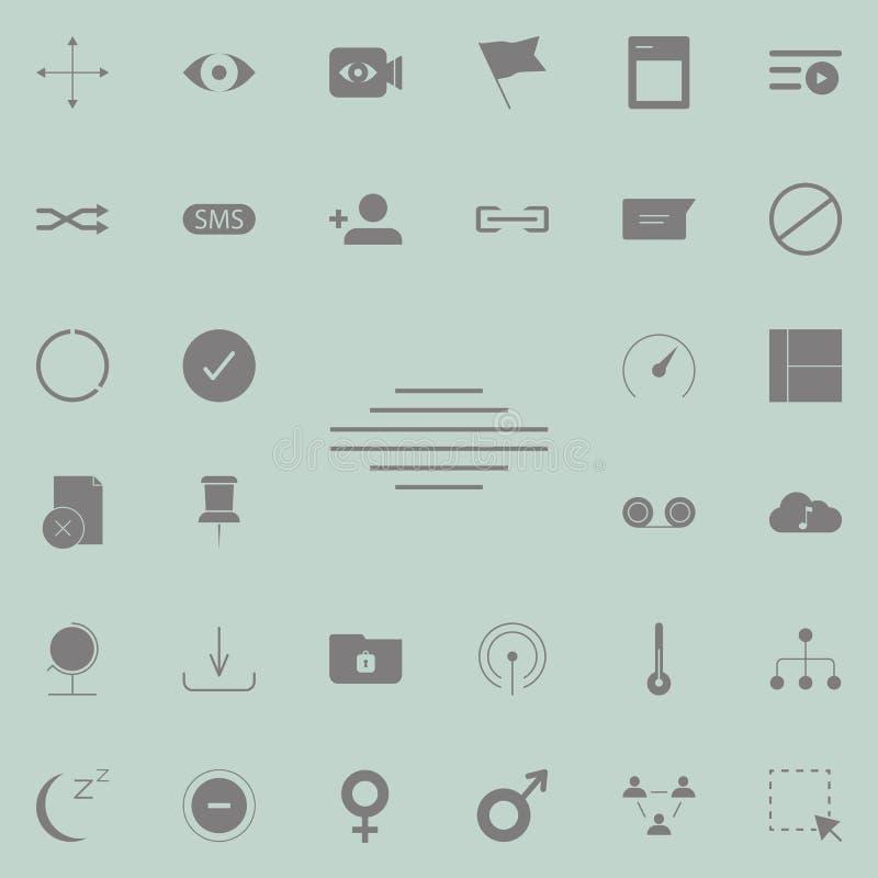 allini l'icona concentrare del testo insieme universale delle icone di web per il web ed il cellulare royalty illustrazione gratis