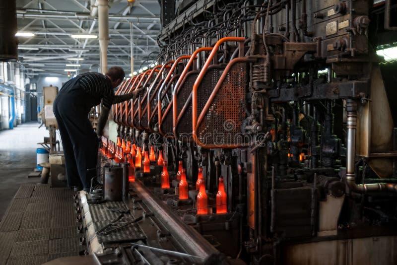 Allini per la produzione delle bottiglie, Tjumen' fotografia stock libera da diritti